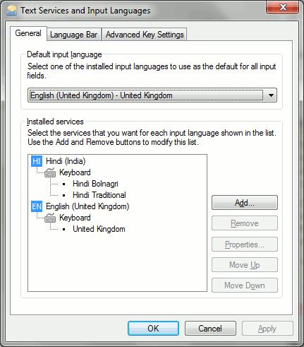Adding the Bolnagri Keyboard in Windows 7