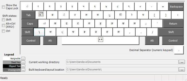 Bolnagri keyboard layout