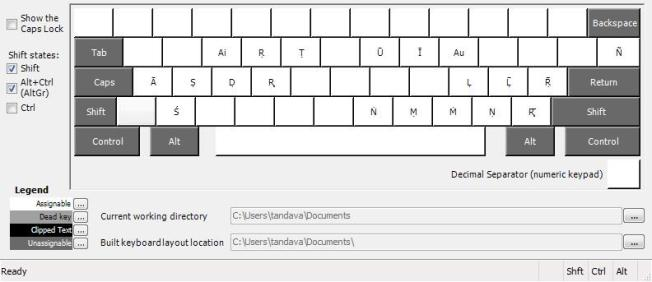 IAST or ISO 15919 indic transliteration keyboard layout (Shift-AltGr)